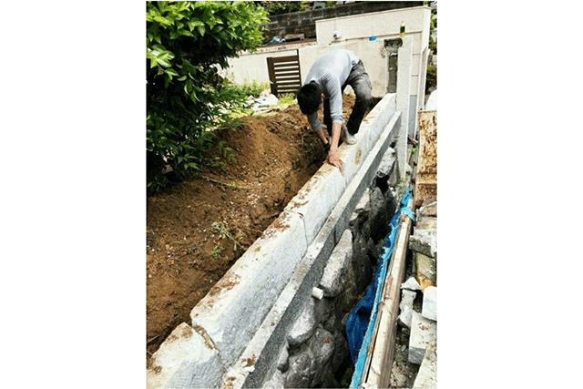 コンクリートブロック塀改修工事